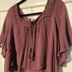 Loss cropped flowing shirt